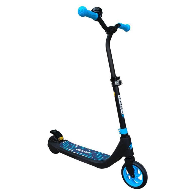 SKUTER - Scooter Eléctrico Con Faro Y Altura Ajustable Azul