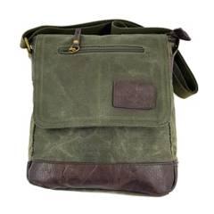 TOPWOLF - Bolso Hombro Sling Bag Canvas Verde Oliva 957-7
