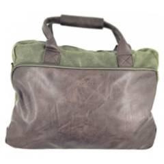 TOPWOLF - Bolso Briefcase Canvas Verde Oliva 956-7