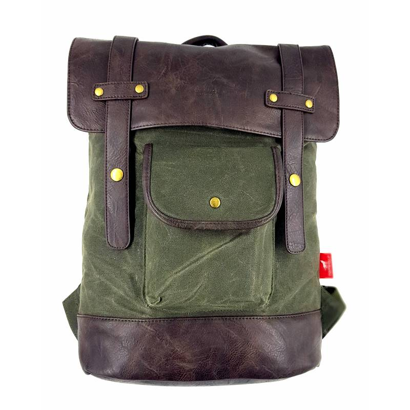 TOPWOLF - Mochila Backpack Canvas Verde Oliva 956-2