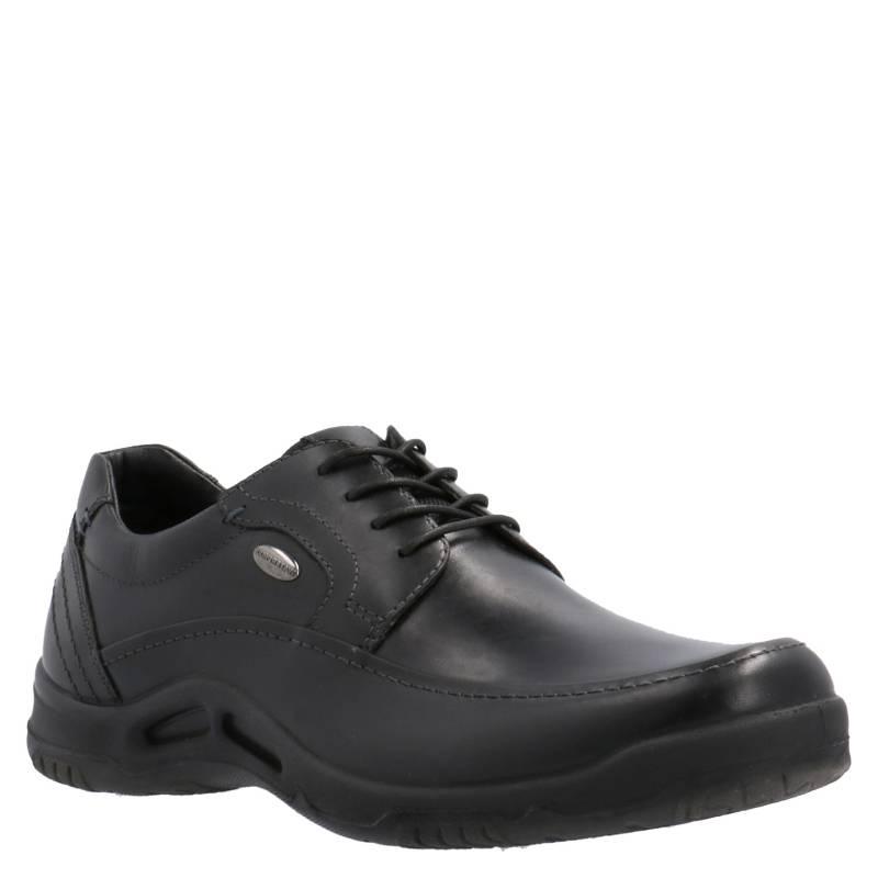 HUSH PUPPIES - Zapato Hombre Doril Cuero Negro