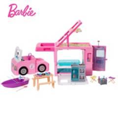 BARBIE - Juguete Barbie Cámper De Los Sueños 3 En 1