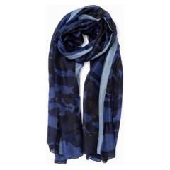 LOUNGE - Pañuelo Seda Bleu Mer