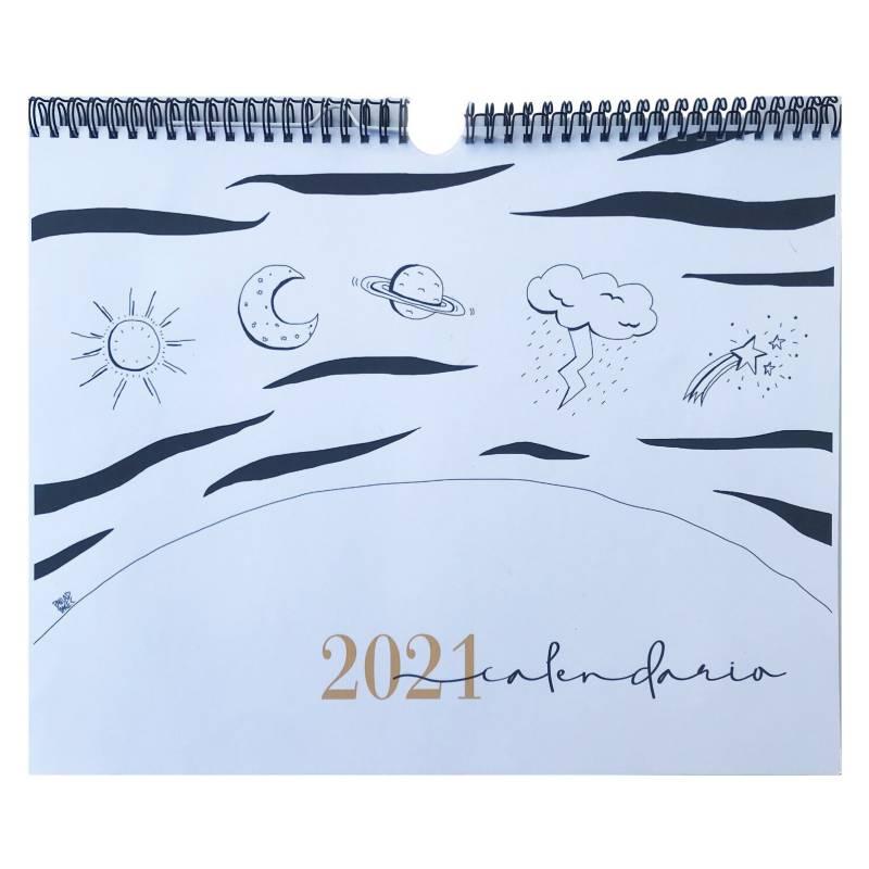 DI?GENESPAPELER?A - Calendario ilustrado de Pared 2021
