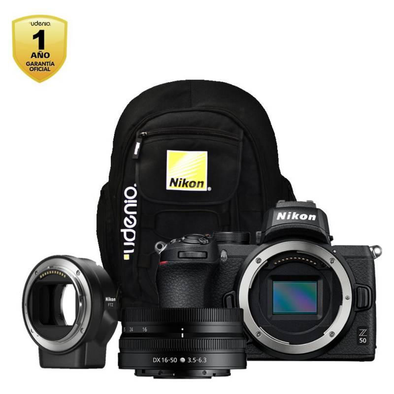 Nikon - Cámara Z50  Lente 16-50Mm  Adaptador Ftz  Mochi