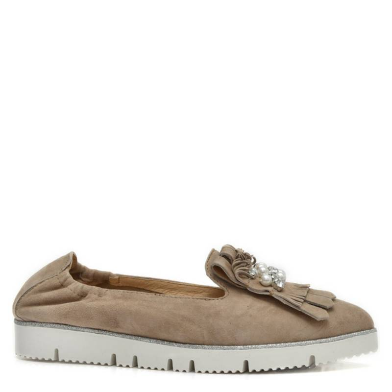 ALPE WOMAN SHOES - Zapato Casual Mujer Gamuza Taupe