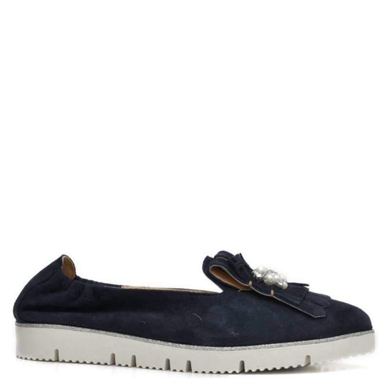 ALPE WOMAN SHOES - Zapato Casual Mujer Gamuza Azul Marino