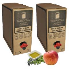 TASTY N BOX - Pack Aceite Oliva Virgen Extra y Jugo Manzana 5Lt