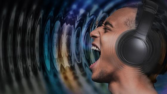 La potente vibración se siente como escuchar música en vivo