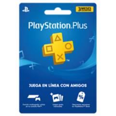 Sony - Suscripción 3 Meses PlayStation PLUS Código Digital