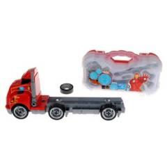 Avengers - Camion Desarmable Con Acoplado Maleta Y Accesorios