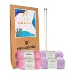 REVESDERECHO - Kit Knit For You Pink Lila