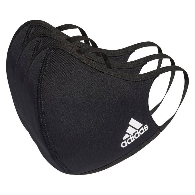 Adidas - Mascarilla Negra Tela Suave 3 Unidades XS/S