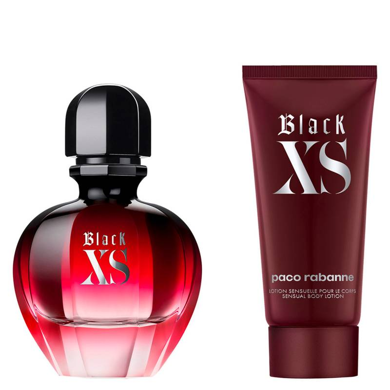 Paco Rabanne - Set Perfume Mujer Black XS for Her EDP 50 ml + Body Lotion 75 ml