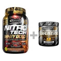 MUSCLETECH - Pack Proteína Nitro Tech 22Lb Chocolate Creatina