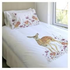 MARGARITA SCHEEL PARA CASA ALVARINHO - Cubreplumón Estampado Bambi Florcitas