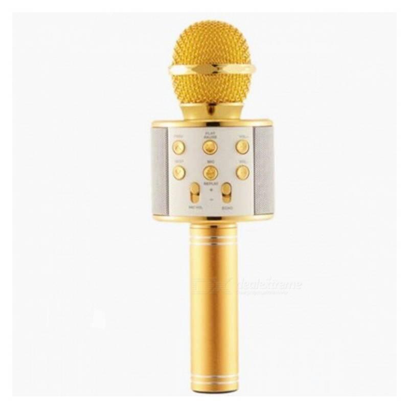 OEM - Microfono Karaoke Con Bluetooth Dorado