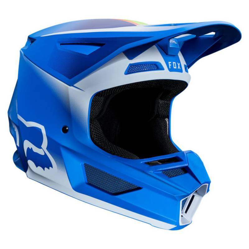 Fox - Casco Moto V2 Vlar Azul Fox
