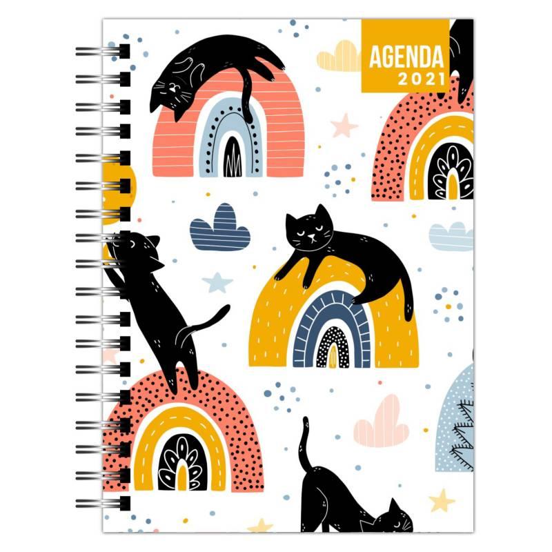 Dentopapel - Agenda / Planer 2021 Black Cats