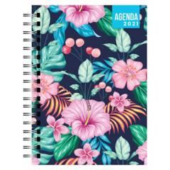 Dentopapel - Agenda / Planer 2021 Intense Flowers