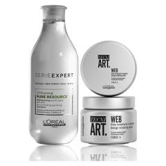 LOREAL PROFESSIONNEL - Set Shampoo Pure Resource 300ml + Cera Web 150 ml