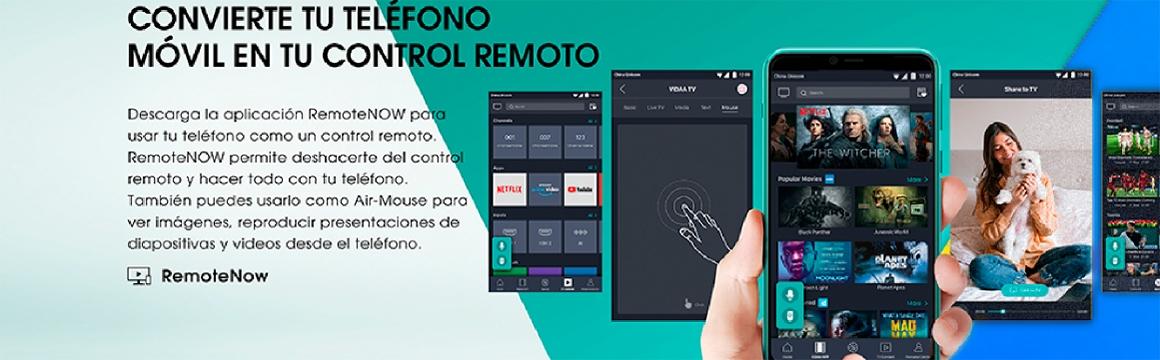 Convierte tu teléfono móvil en tu control remoto.