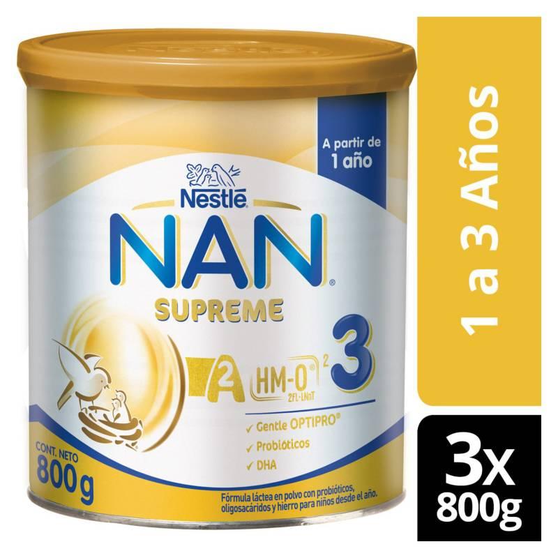 NAN - Fórmula Infantil Nan Supreme 3 800g X3 Tarros