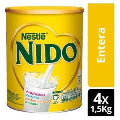 NIDO - Leche en Polvo NIDO Entera  1500g X4 Tarros