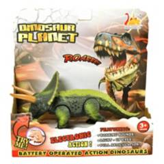 ARCOIRIS - Dinosaurios Triceratops Con Luz Sonido Movimiento
