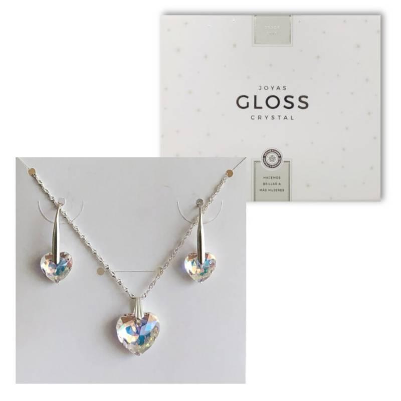 GLOSS CRYSTAL - Joyero  Conjunto Diamante Aurora Boreal Plata