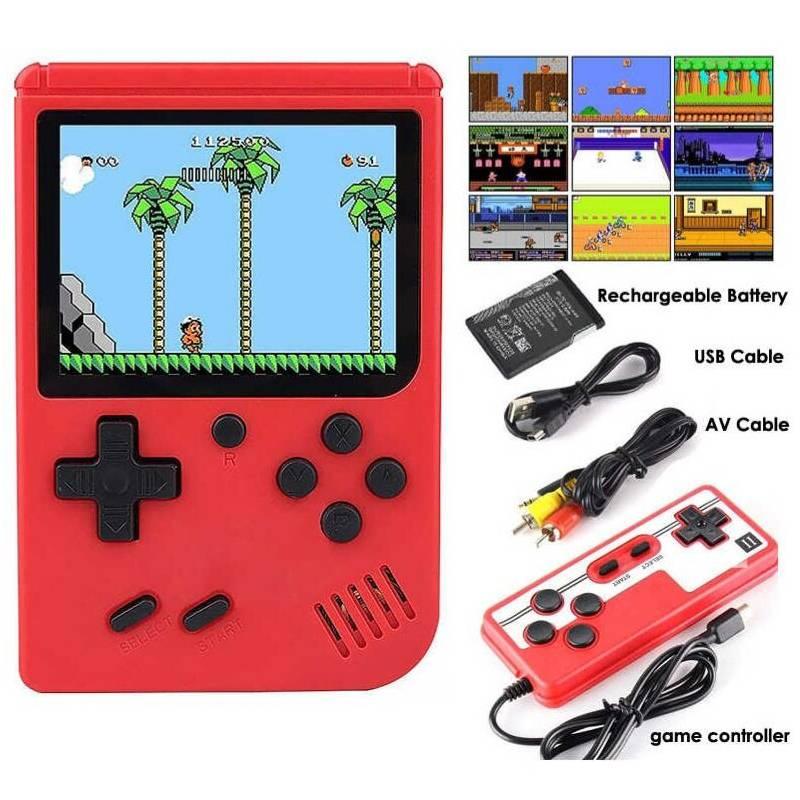 GENERICC - Mini Consola Portatil 500 Juegos Con Control Rojo