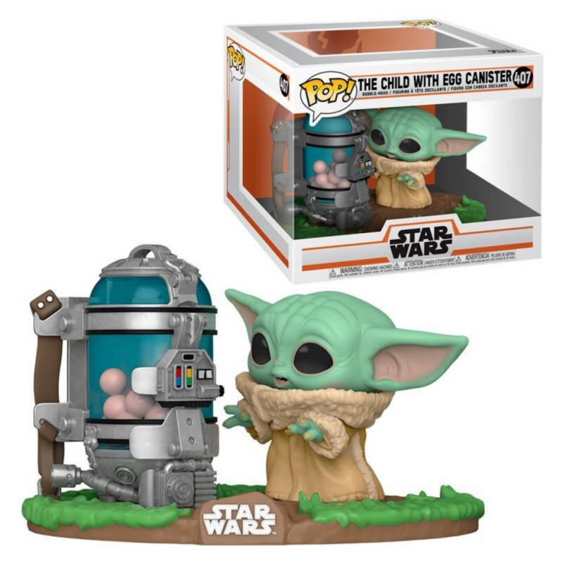 FUNKO - Funko Pop Deluxe Baby Yoda With Egg Canister