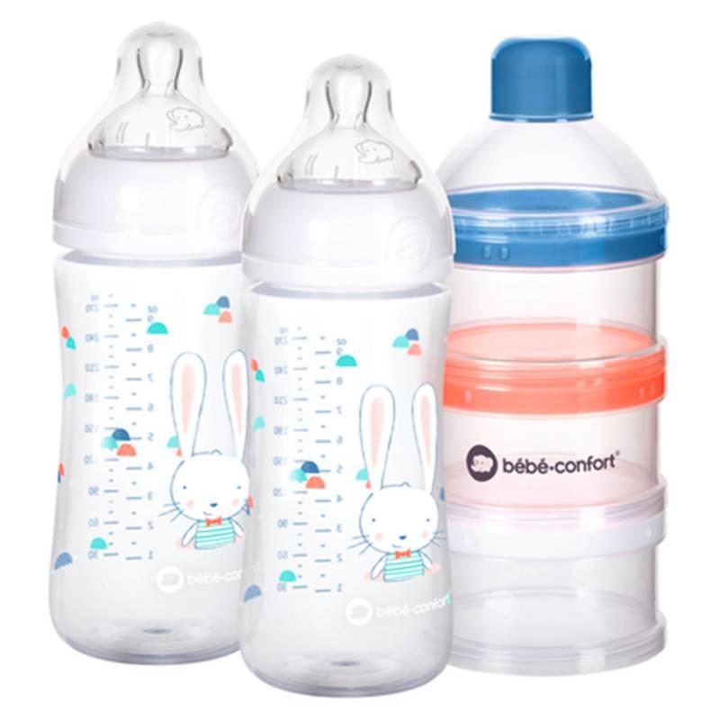 Bebe Confort - Set 2 Mamaderas 270 ml con Dispensador de Leche