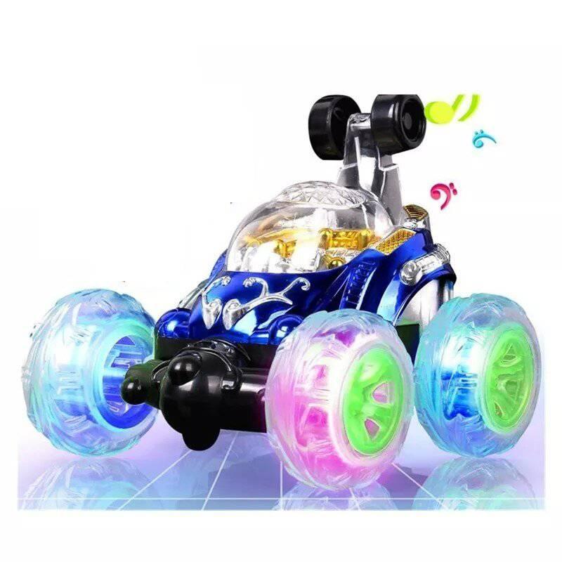 Generico - Auto A Control Remoto Crazy Car Luces  Sonido Azul