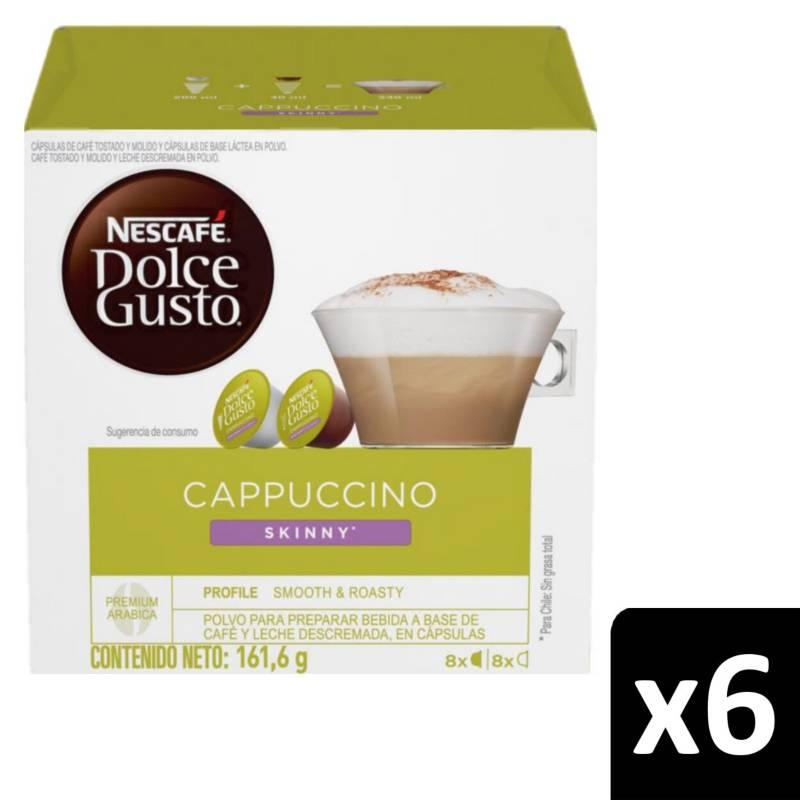 NESCAFE DOLCE GUSTO - Café en Cápsulas Cappuccino Skinny X6 Cajas