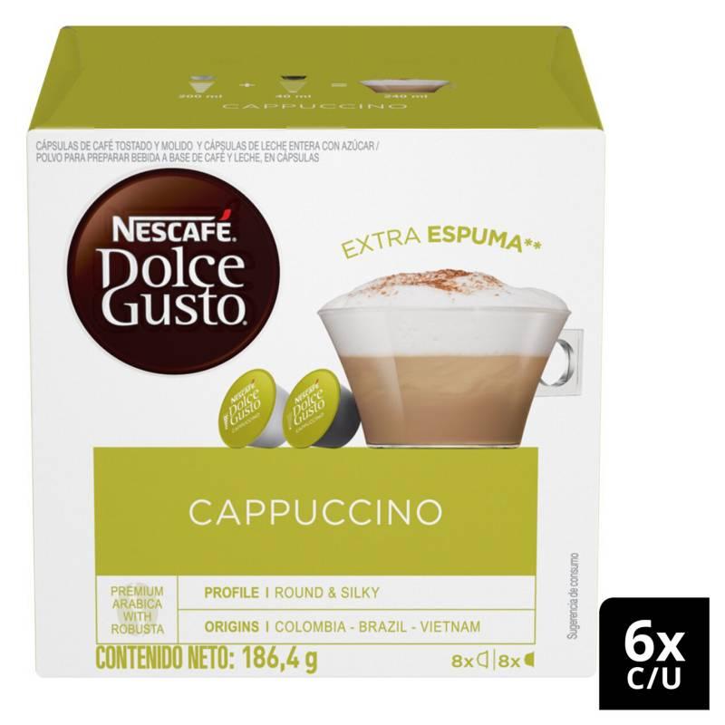 NESCAFE DOLCE GUSTO - Café en Cápsulas Cappuccino X6 Cajas