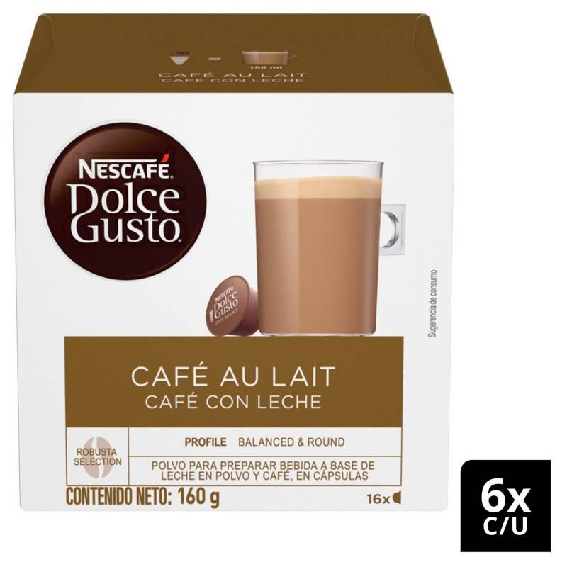 NESCAFE DOLCE GUSTO - Café en Cápsulas Café Au Lait X6 Cajas