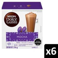 NESCAFE DOLCE GUSTO - Café En Cápsulas Mocha X6 Cajas