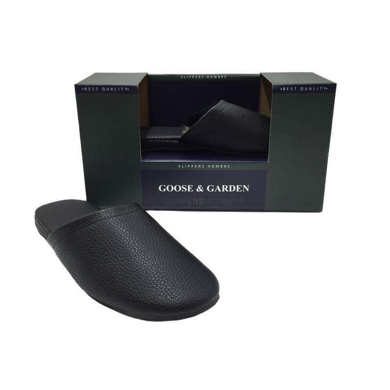 GOOSE-GARDEN - Pantufla Levantarse Negro