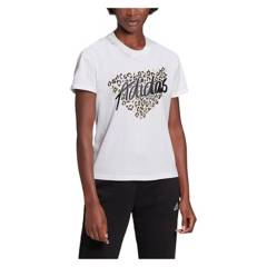 ADIDAS - Polera Deportiva  Mujer Leopard