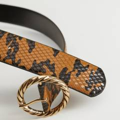 MANGO - Cinturón Regaliz Mujer