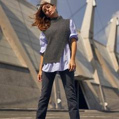 MANGO - Sweater Sin Mangas Aberturas Laterales Lemar Mujer