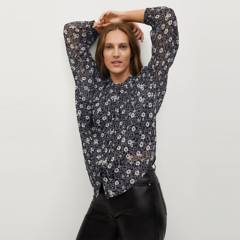 MANGO - Blusa Fluida Estampada Elisa Mujer