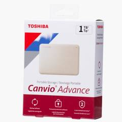 TOSHIBA - 1TB Disco Portatil Canvio Advance V10 Blan