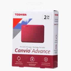 Toshiba - 2TB Disco Portatil Canvio Advance V10 Rojo