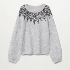 MANGO KIDS - Sweater Poliester Reciclado Lentejuelas Kate Niña