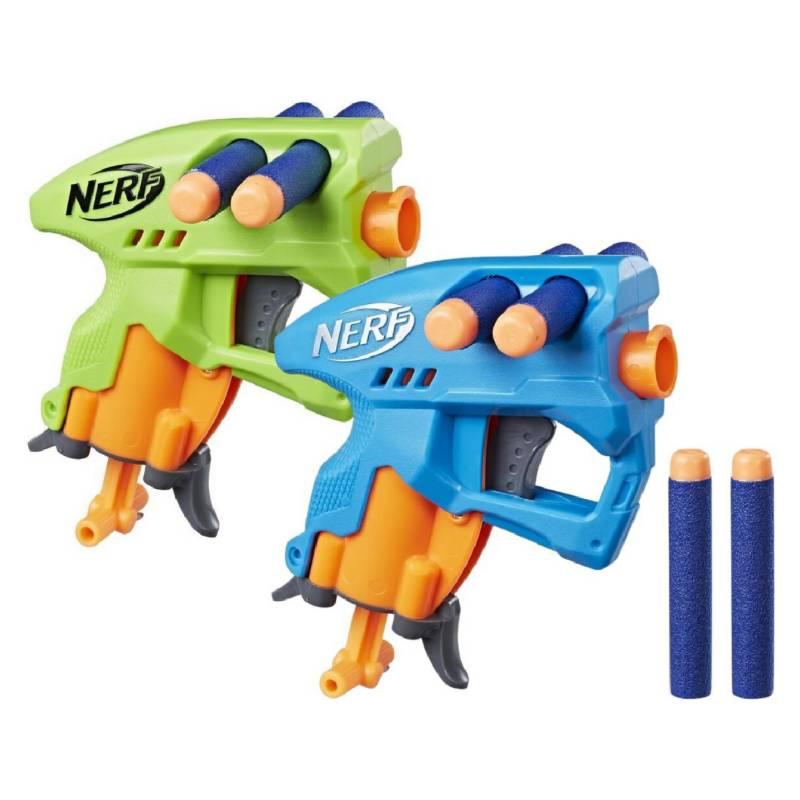 NERF - Nerf N-Strike Nanofire 2 Lanzadores  Azul Y Verde
