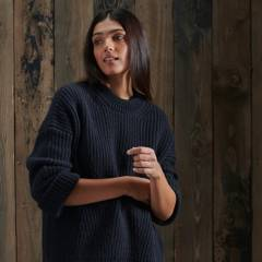 SUPERDRY - Sweater Tipo Túnica Stitch deflected Mujer