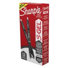 SHARPIE - Lapiz De Gel Sharpie Negro Punta Fina X12