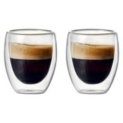 Usa - Set 2 Mug De Café Vaso Doble Pared 300 Ml.